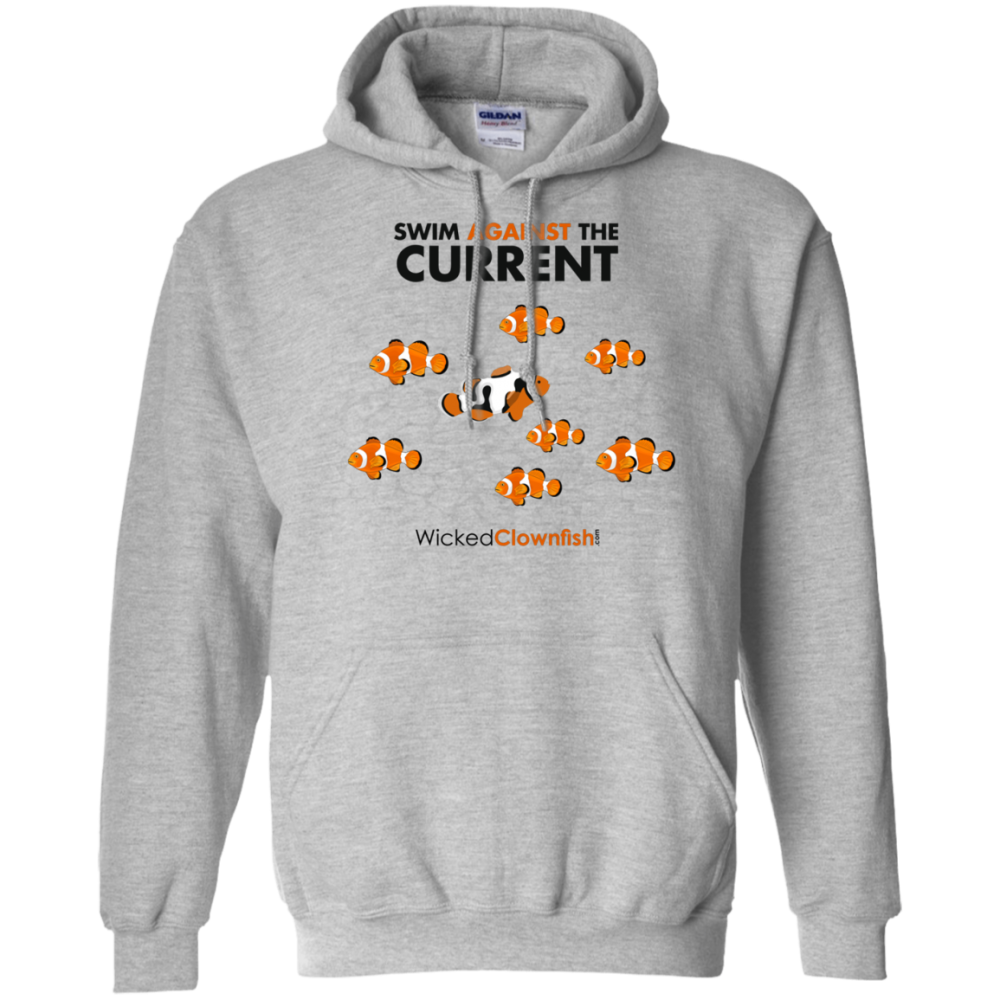 Swim Against The Current Hoodie - color: Sport Grey
