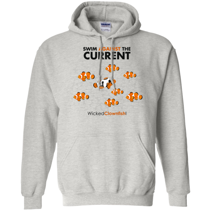 Swim Against The Current Hoodie - color: Ash