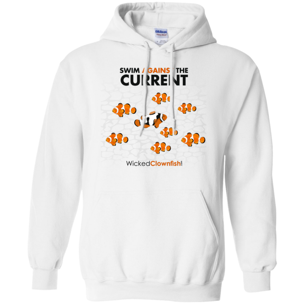 Swim Against The Current Hoodie - color: White