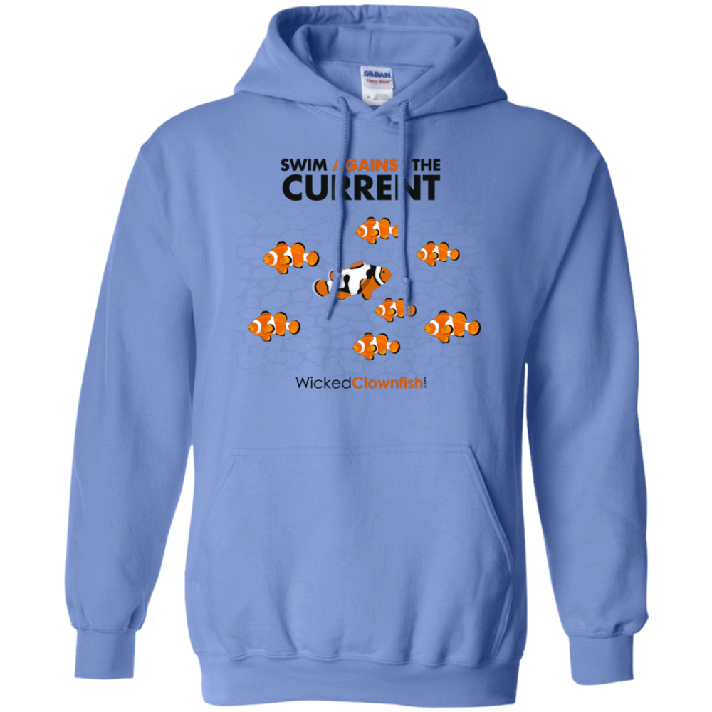 Swim Against The Current Hoodie - color: Carolina Blue