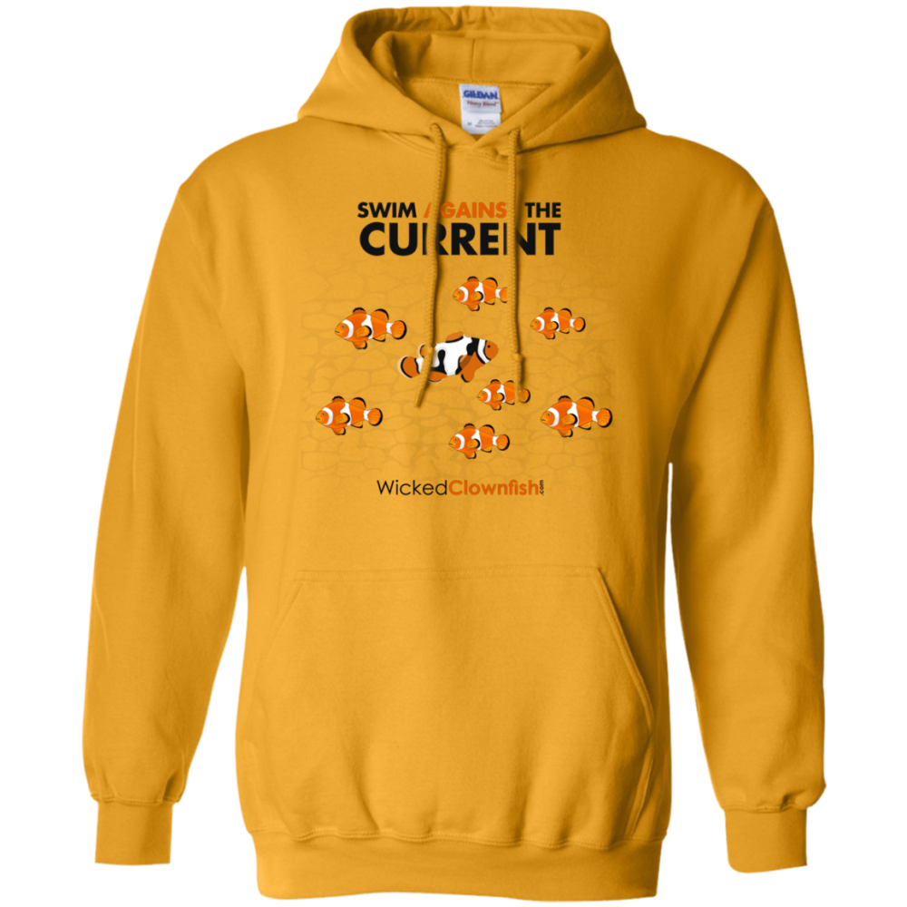 Swim Against The Current Hoodie - color: Gold