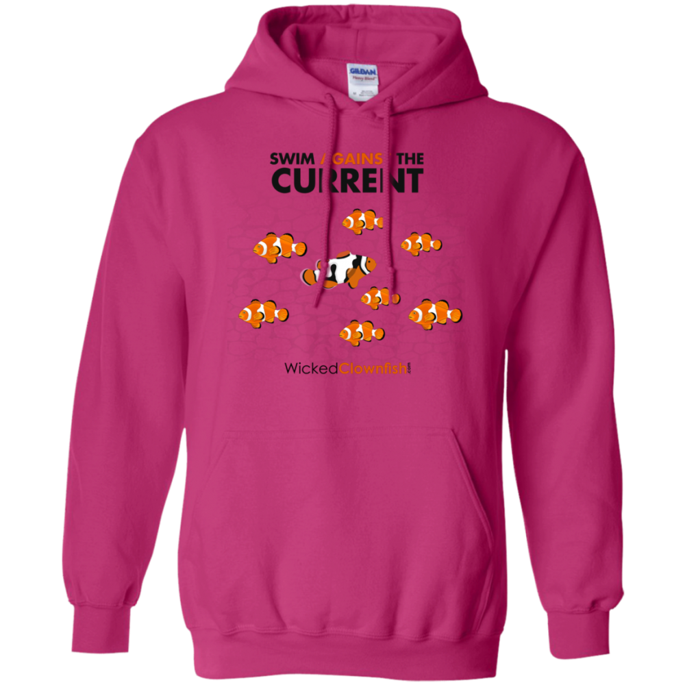 Swim Against The Current Hoodie - color: Heliconia