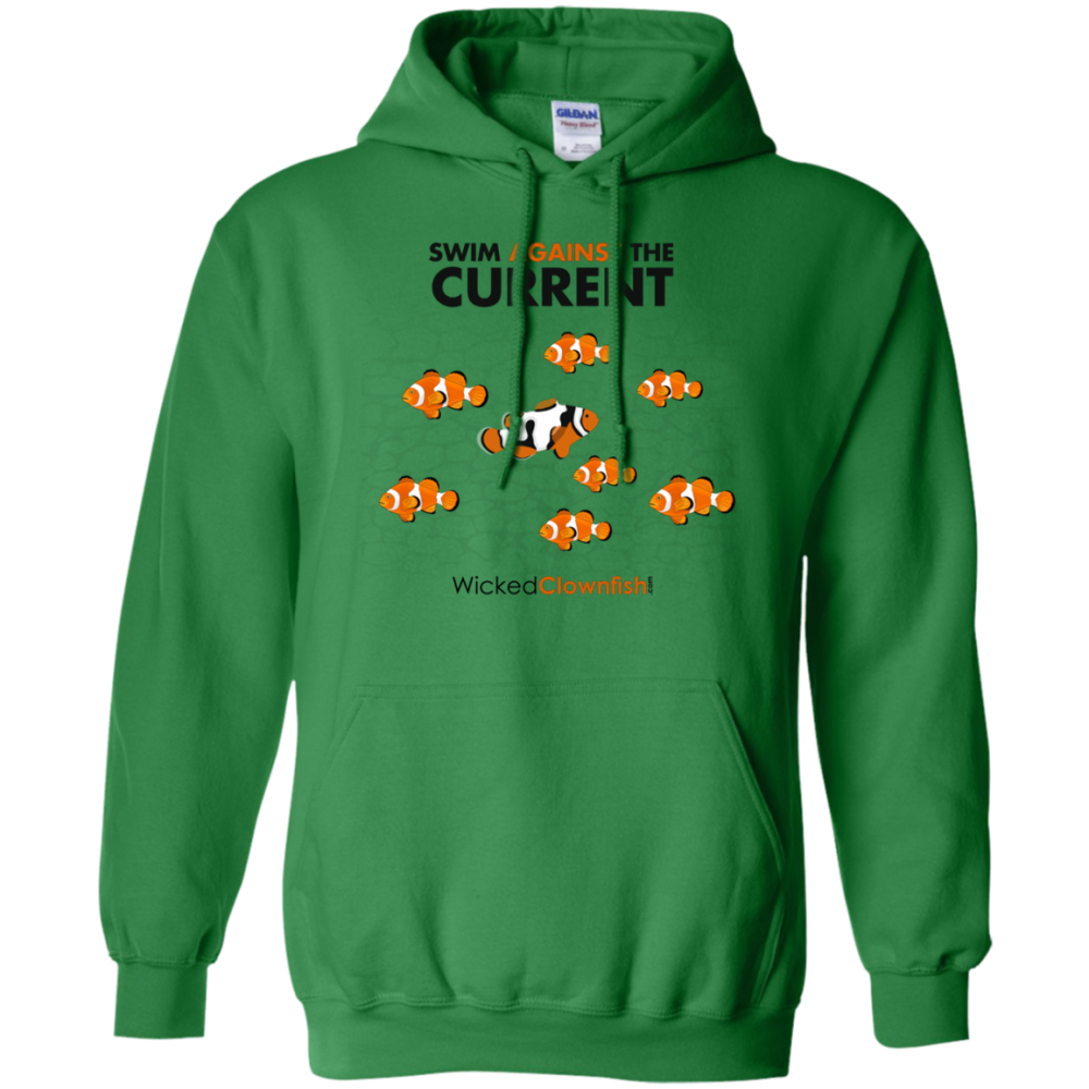 Swim Against The Current Hoodie - color: Irish Green