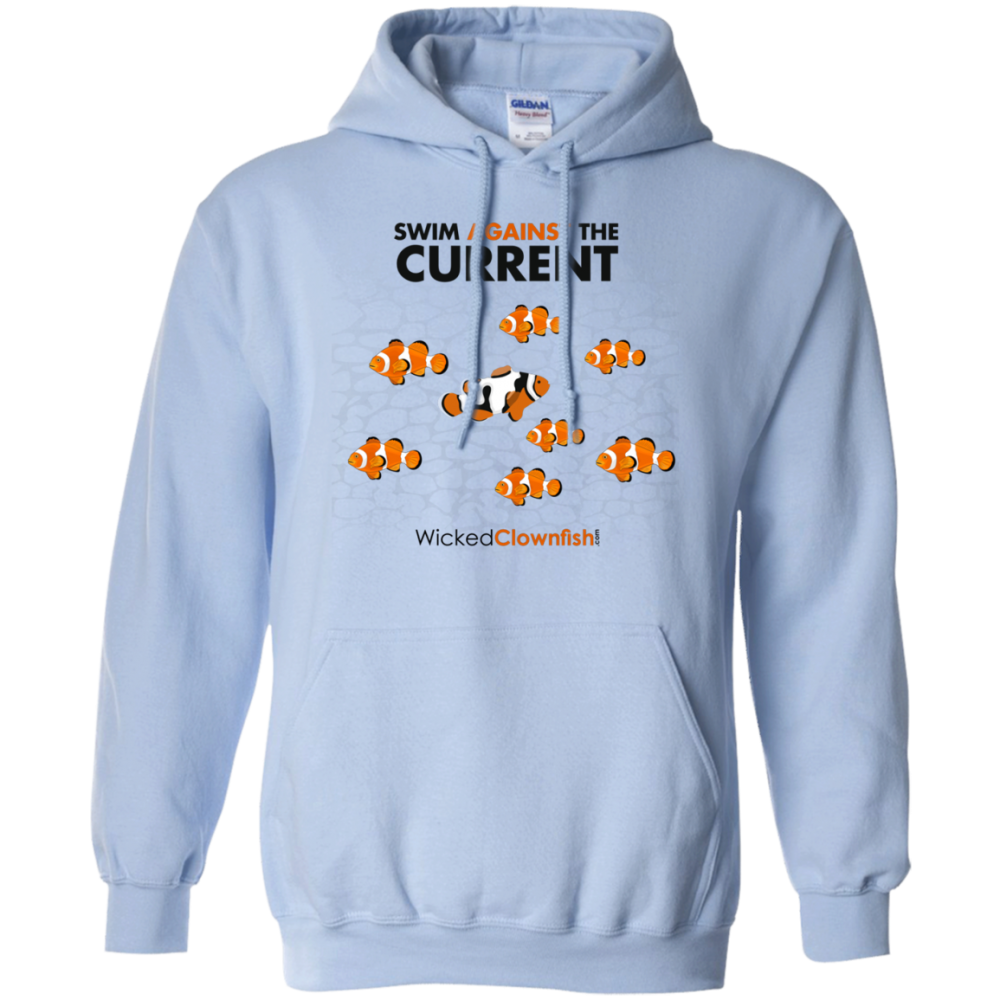 Swim Against The Current Hoodie - color: Light Blue