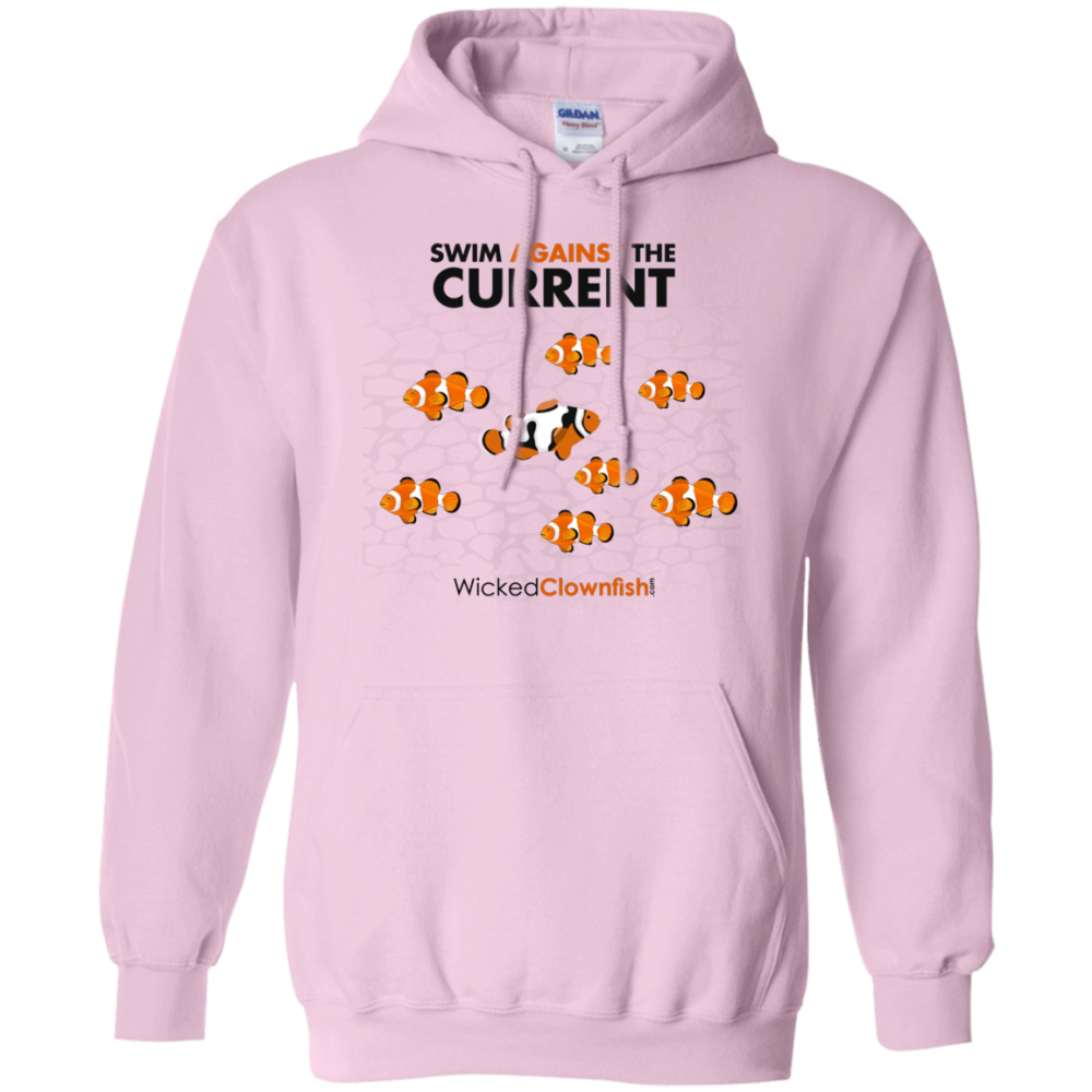 Swim Against The Current Hoodie - color: Light Pink