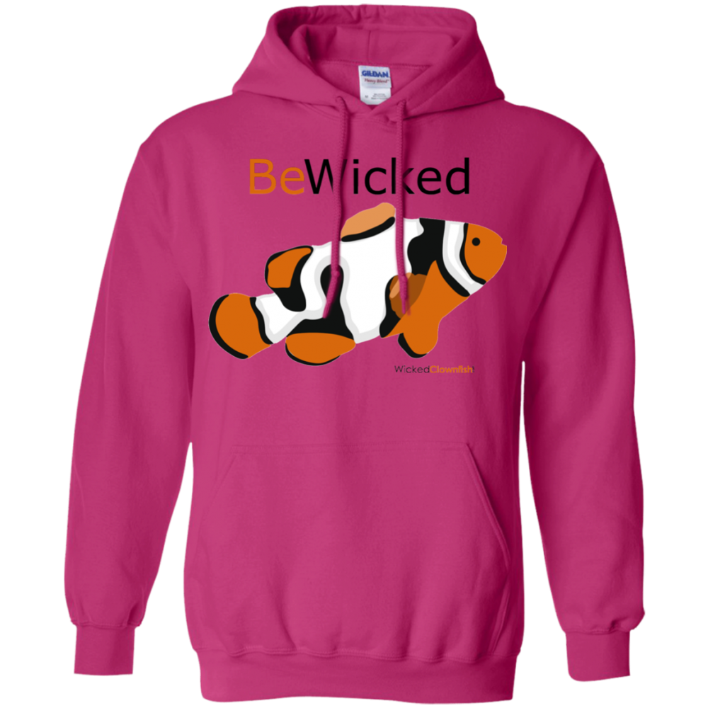 Be Wicked Hoodie - color: Heliconia