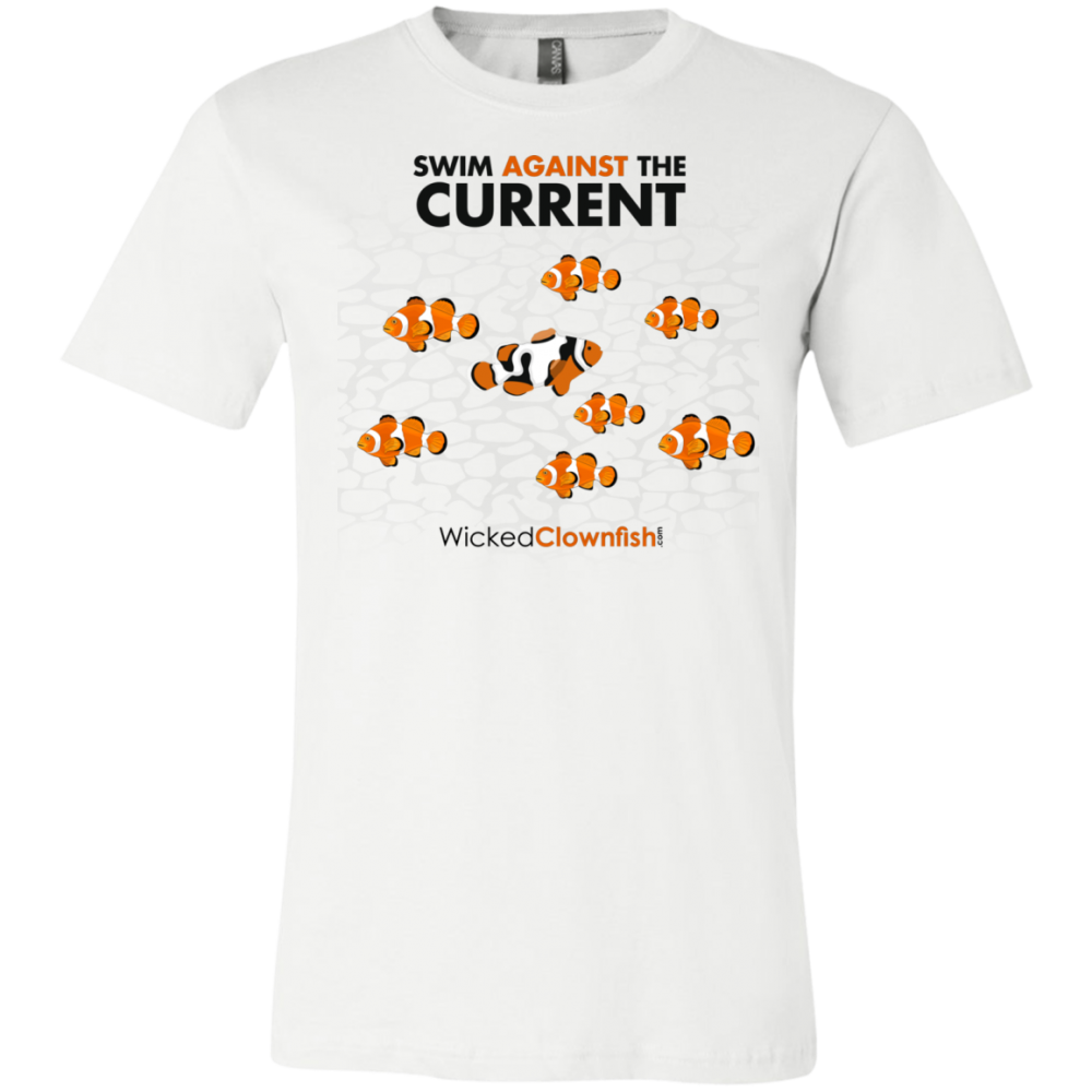 Swim Against The Current - color: white