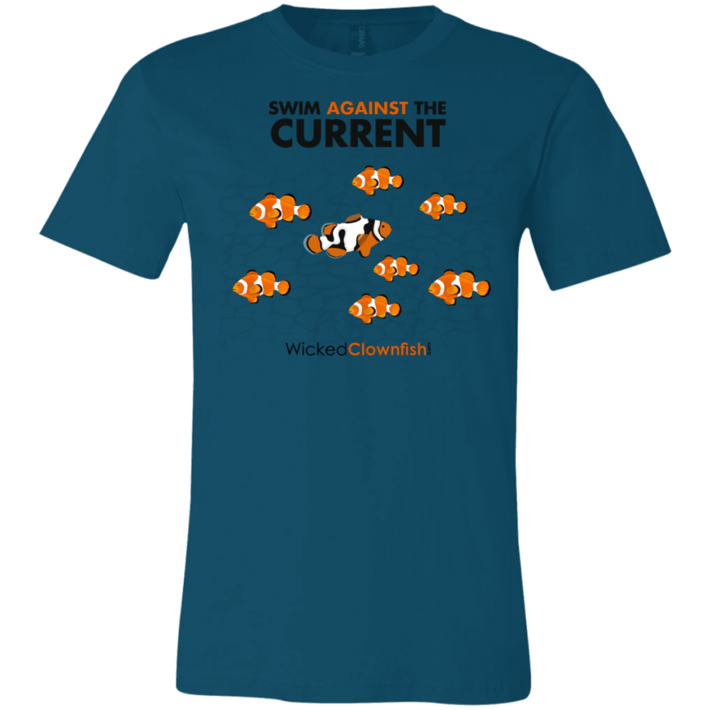 Swim Against The Current - color: deep teal