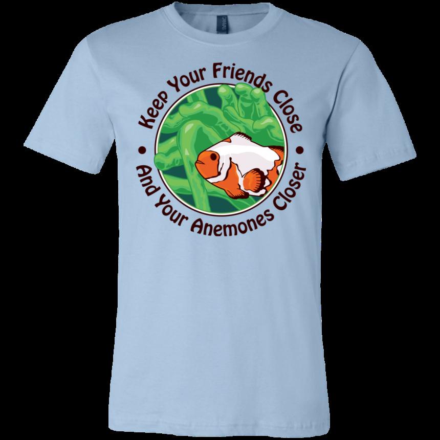 Keep Your Friends Close T-Shirt - color: light blue