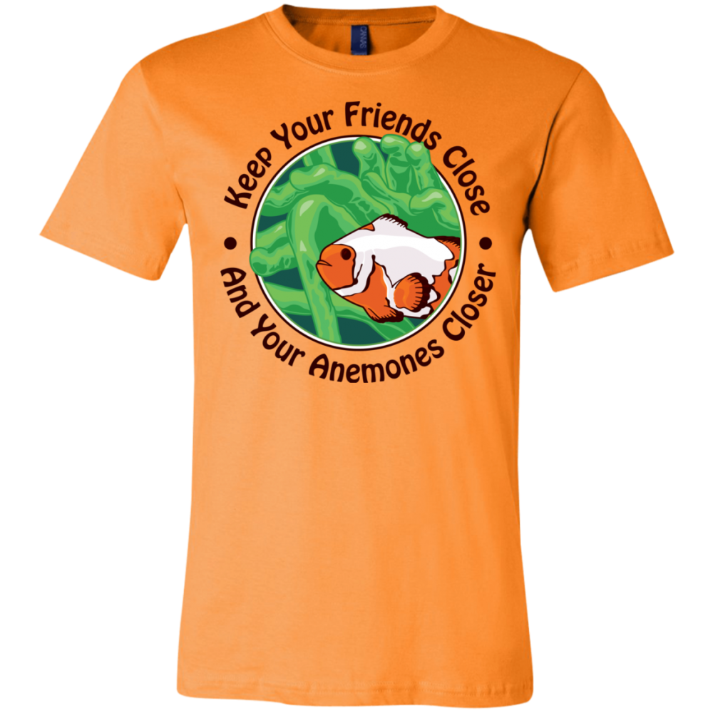 Keep Your Friends Close T-Shirt - color: orange