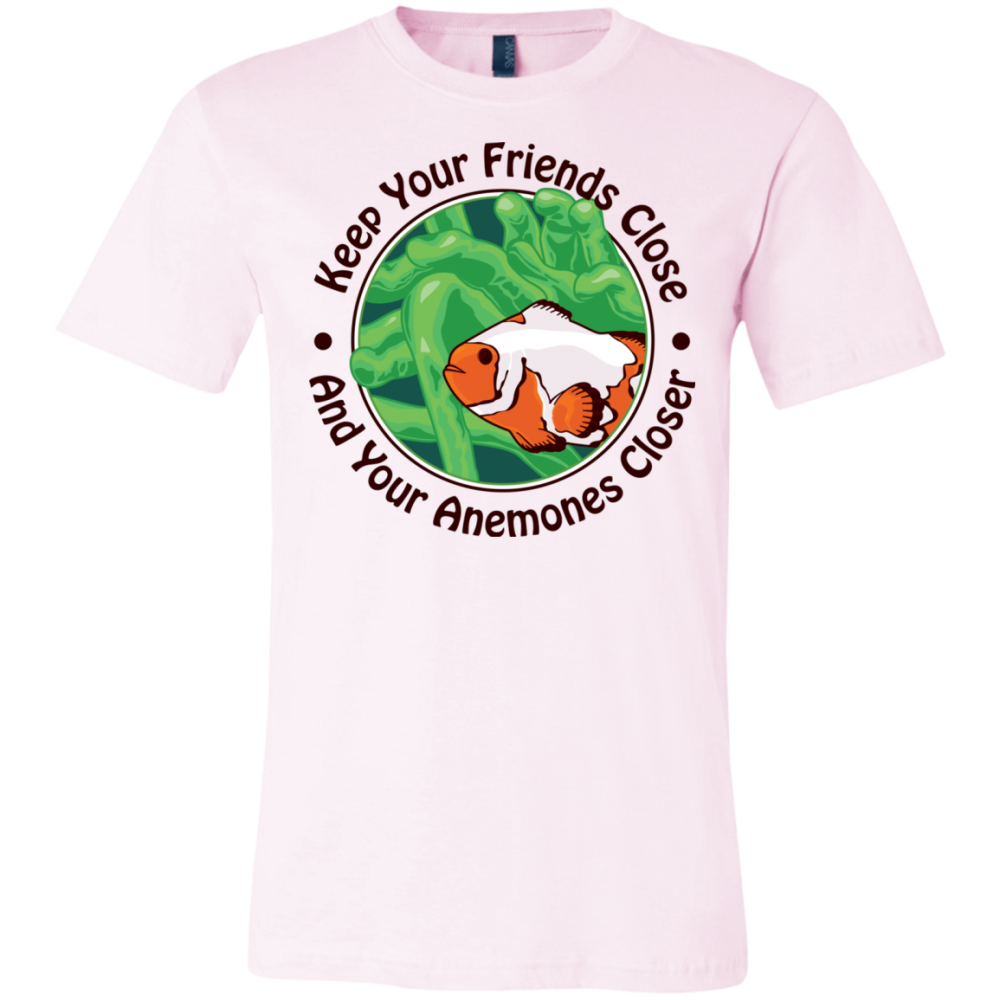 Keep Your Friends Close T-Shirt - color: soft pink