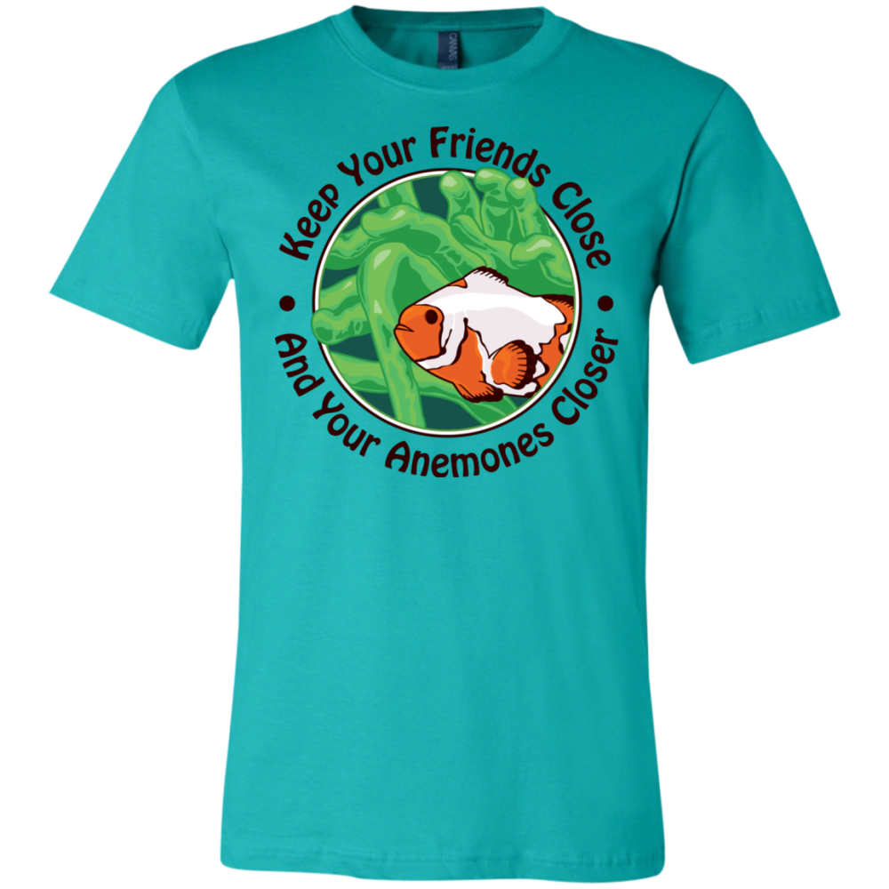 Keep Your Friends Close T-Shirt - color: teal