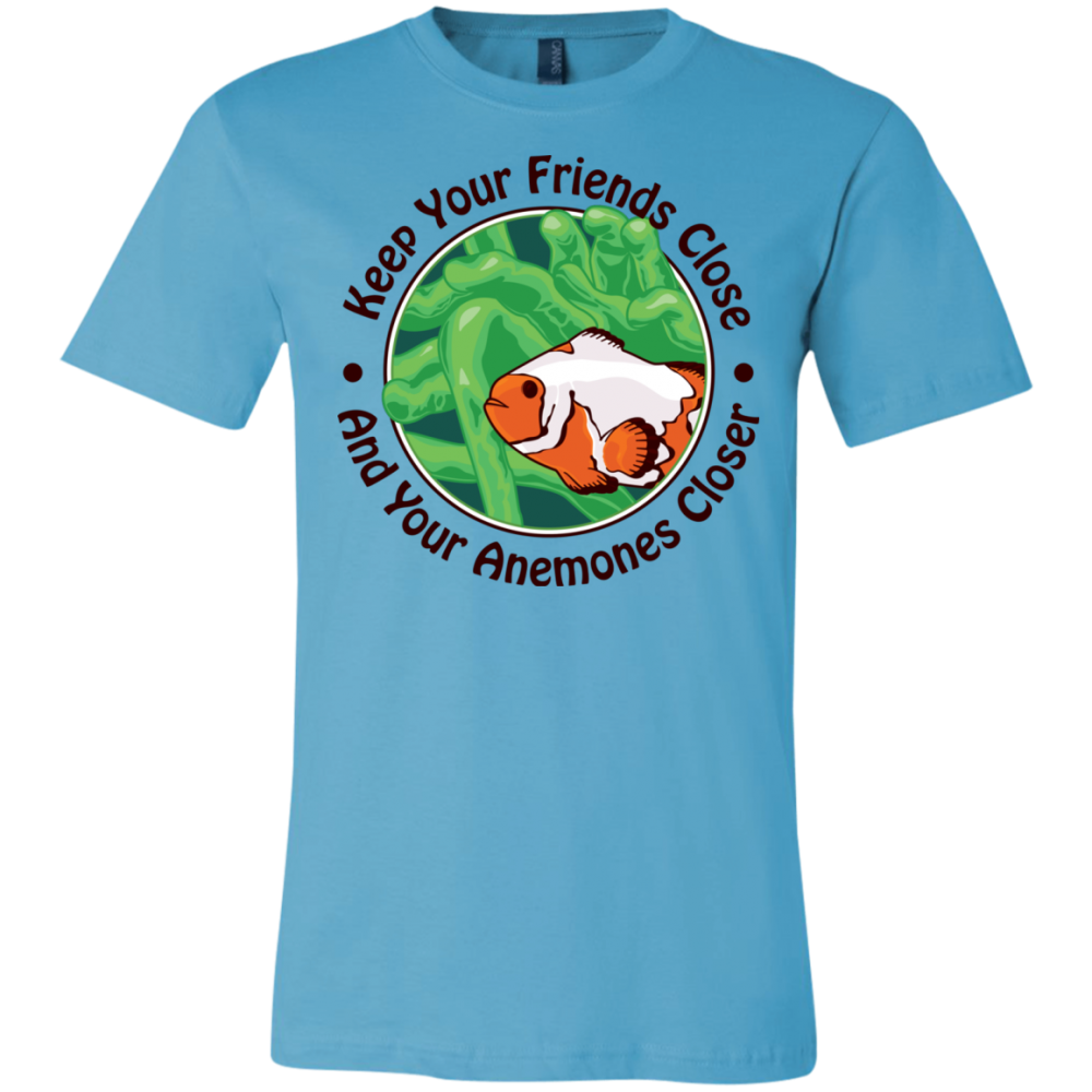Keep Your Friends Close T-Shirt - color: turquoise