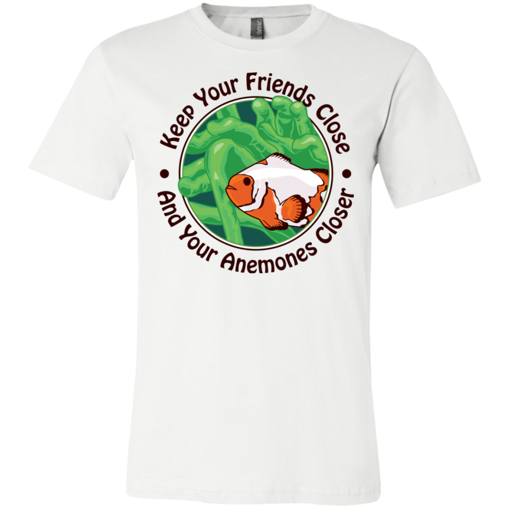 Keep Your Friends Close T-Shirt - color: white