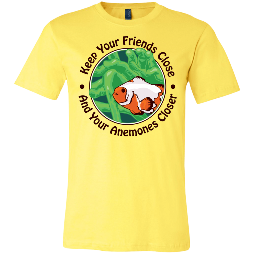 Keep Your Friends Close T-Shirt - color: yellow