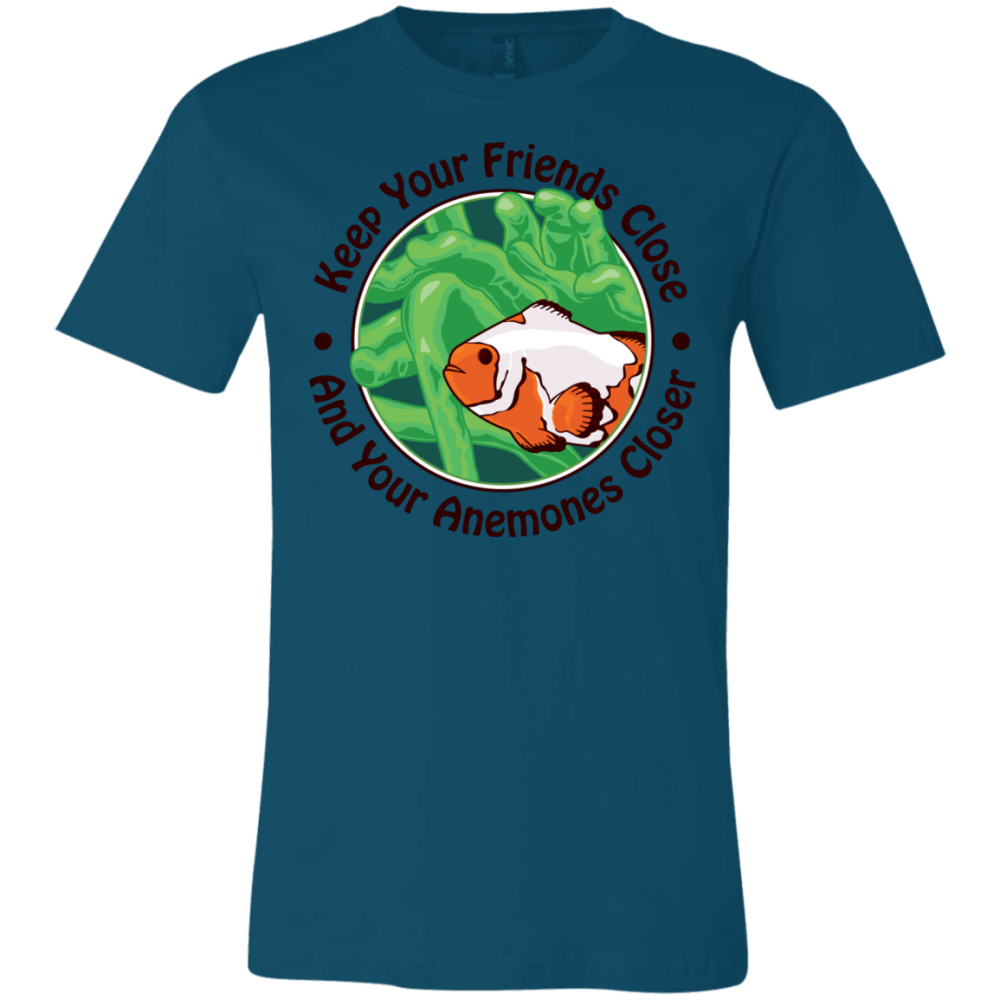 Keep Your Friends Close T-Shirt - color: deep teal