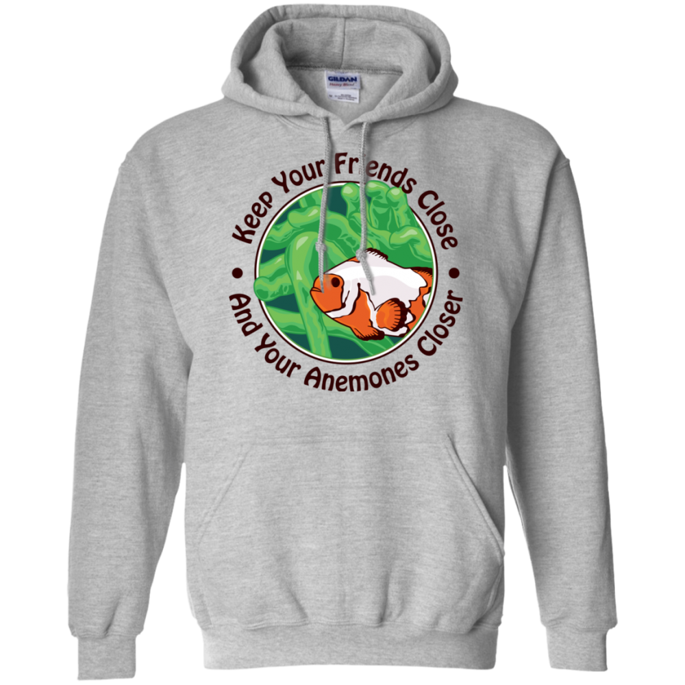 Keep Your Friends Close Hoodie - color: Sport Grey