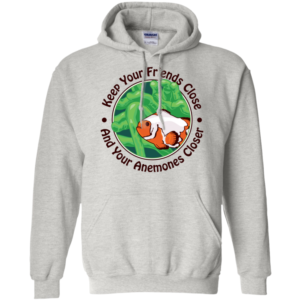 Keep Your Friends Close Hoodie - color: Ash
