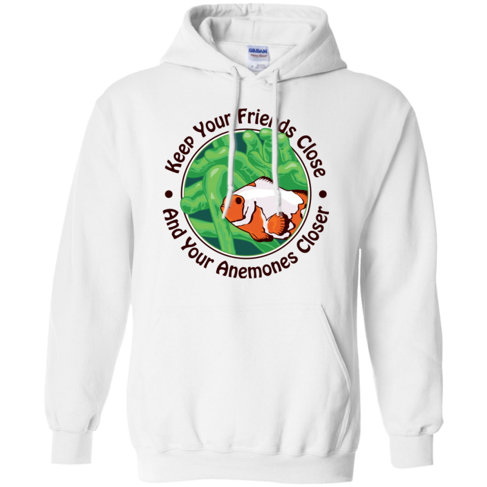 Keep Your Friends Close Hoodie - color: White