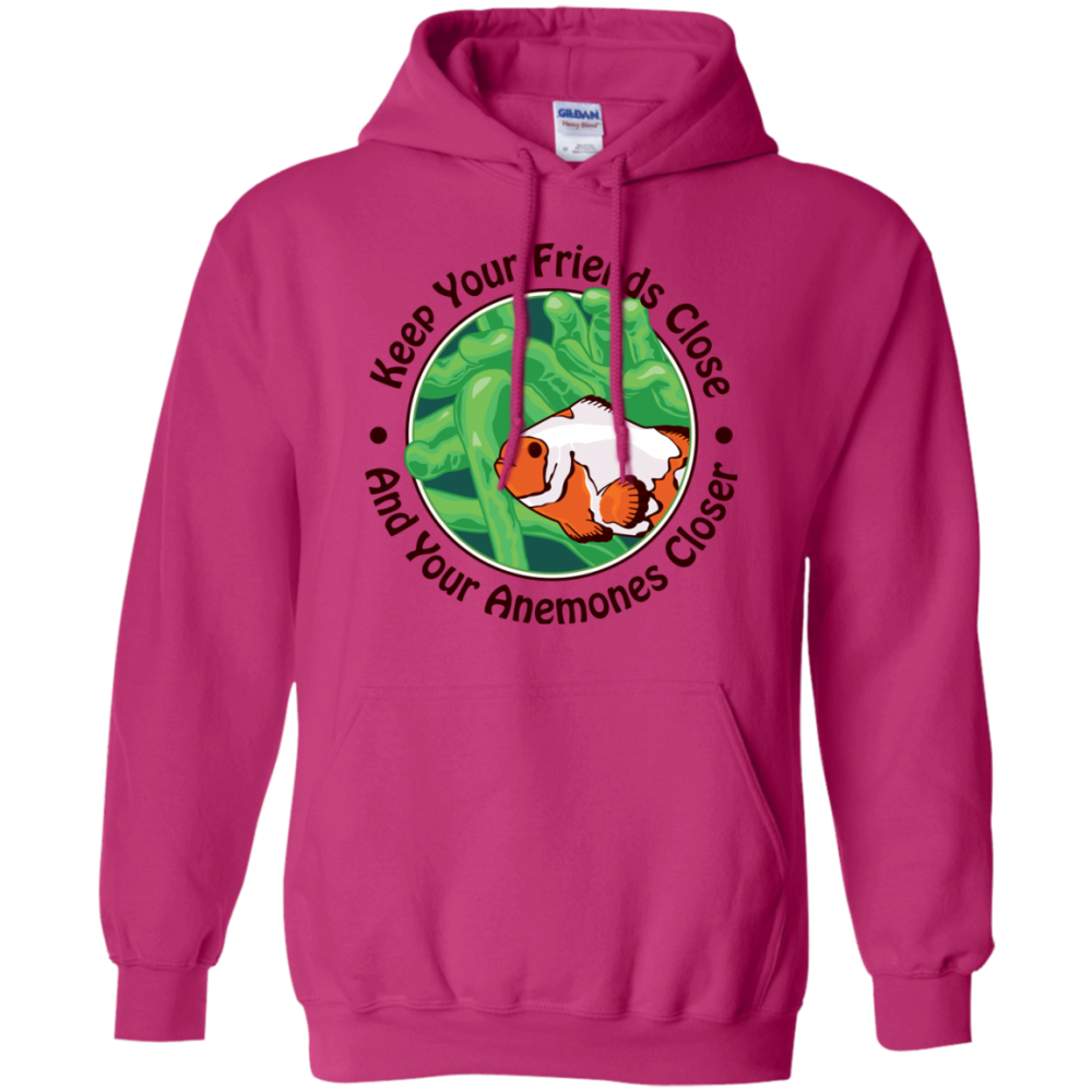 Keep Your Friends Close Hoodie - color: Heliconia