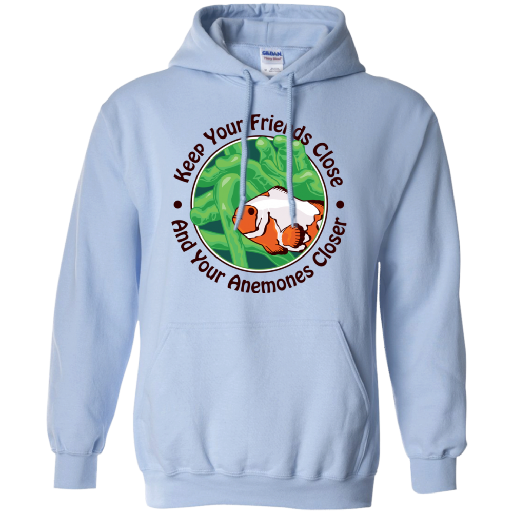 Keep Your Friends Close Hoodie - color: Light Blue