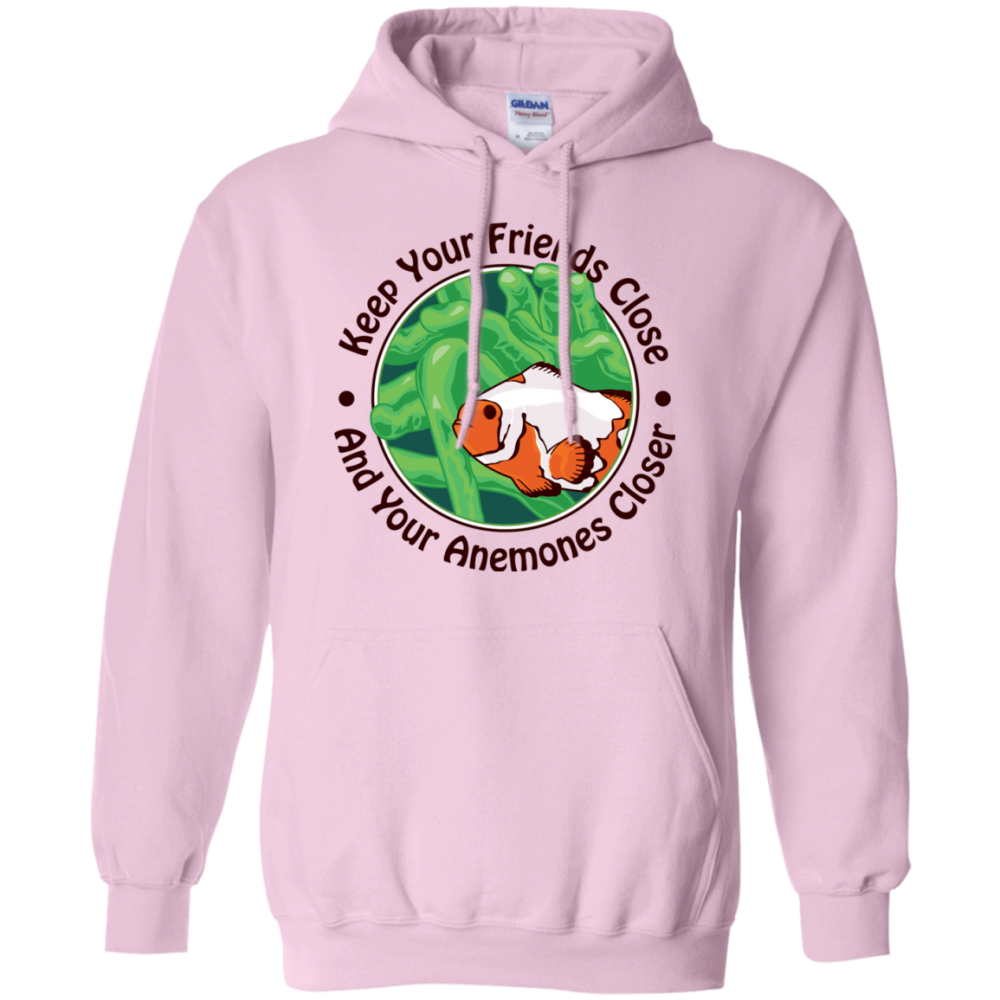Keep Your Friends Close Hoodie - color: Light Pink