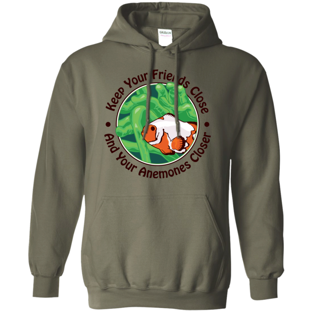 Keep Your Friends Close Hoodie - color: Military Green