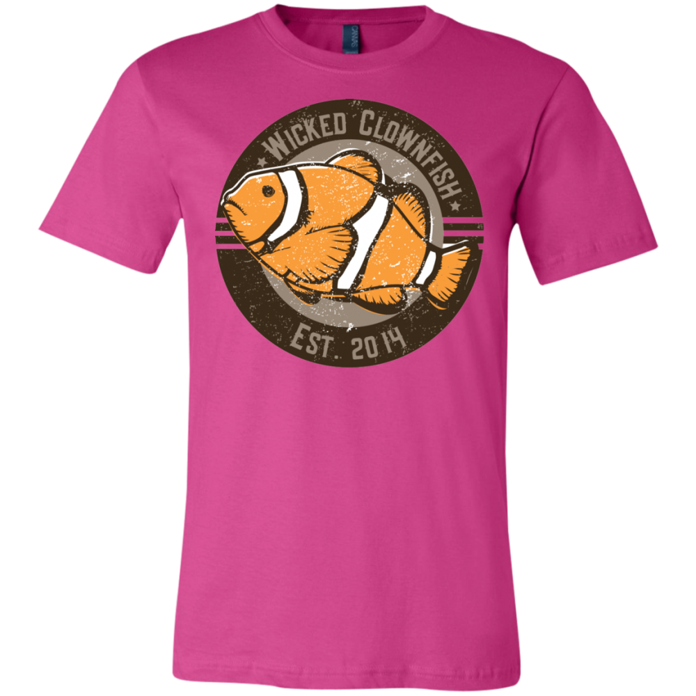Wicked Clownfish Est. 2014 T-Shirt - color: Berry