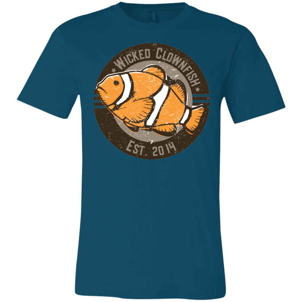 Wicked Clownfish Est. 2014 T-Shirt - color: Deep Teal
