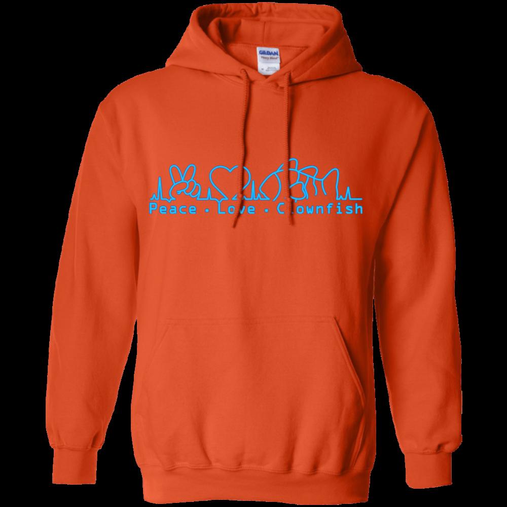 Peace, Love, Clownfish Hoodie - color: Orange