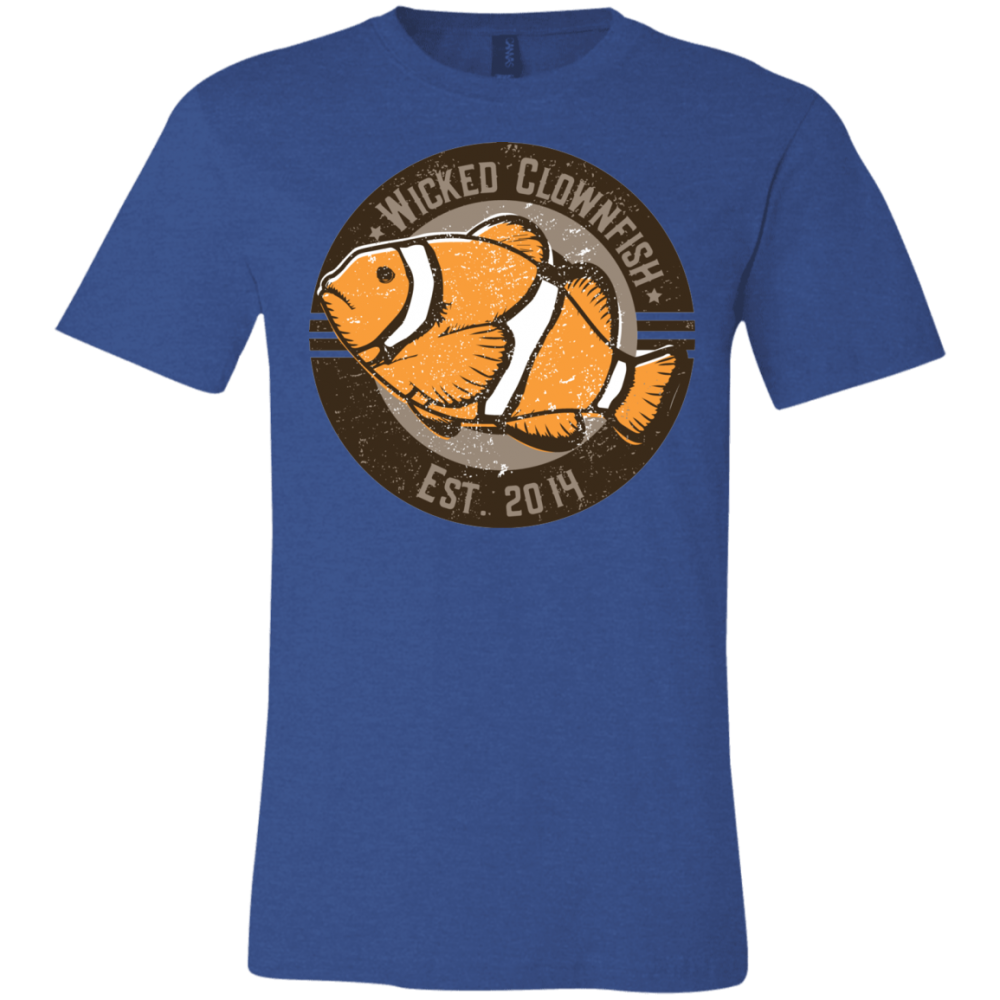 Wicked Clownfish Est. 2014 T-Shirt - color: Heather Royal