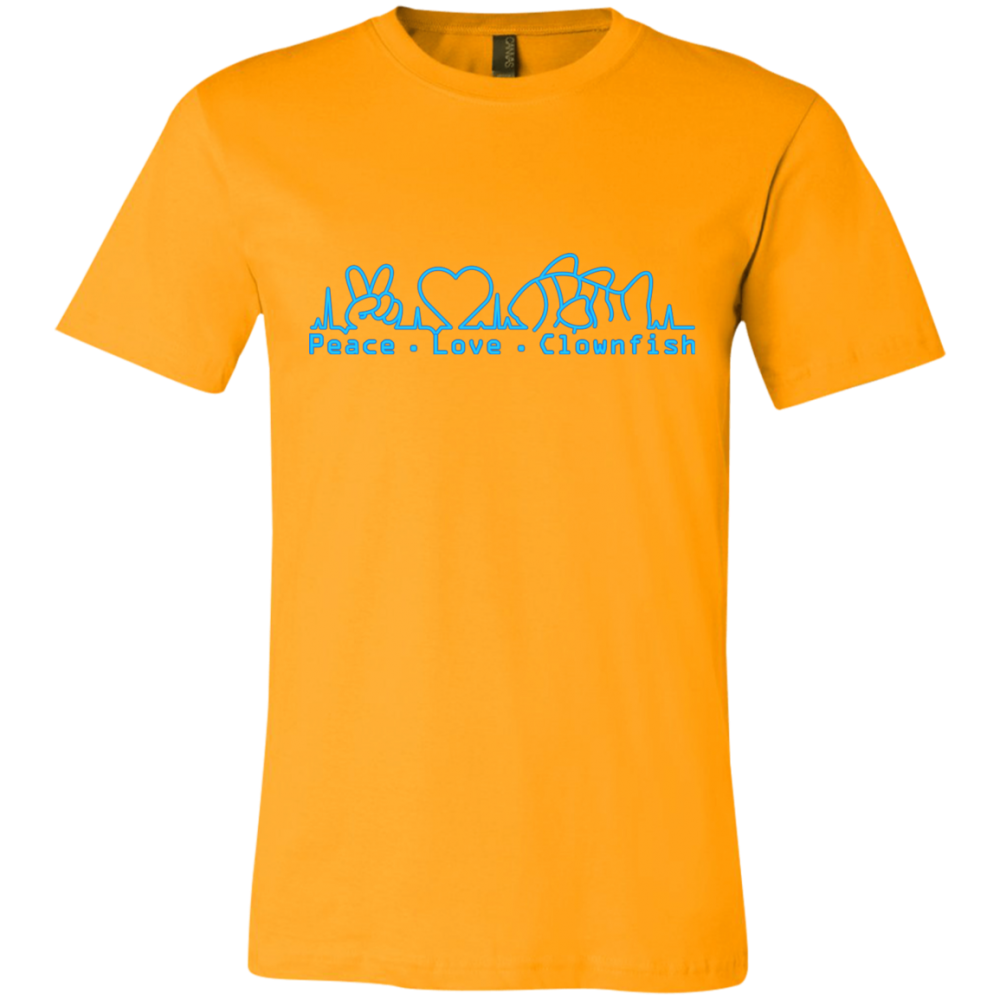 Peace, Love, Clownfish T-Shirt - color: Gold