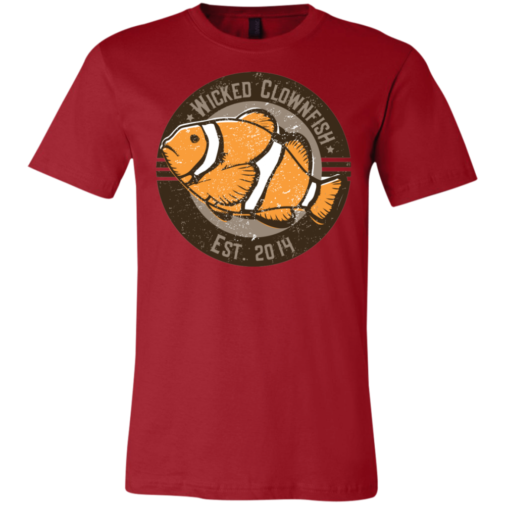 Wicked Clownfish Est. 2014 T-Shirt - color: Canvas Red