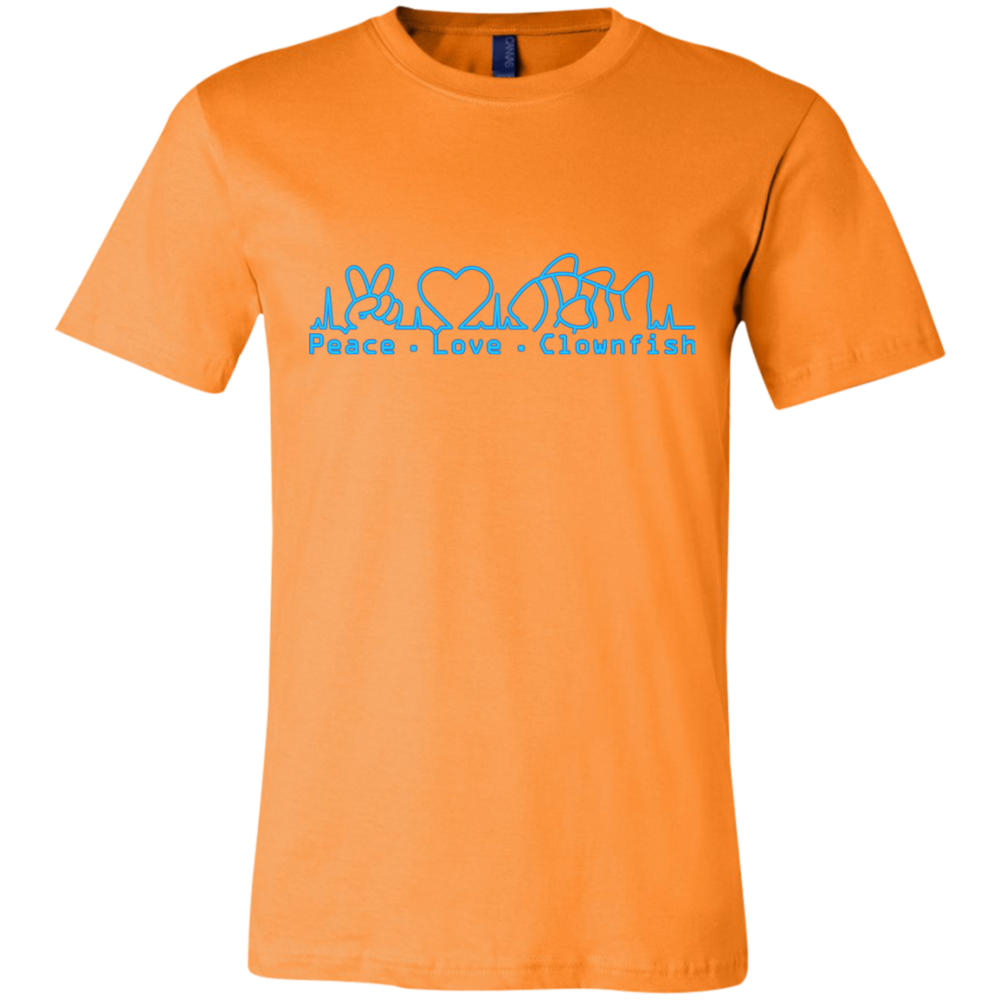 Peace, Love, Clownfish T-Shirt - color: Orange