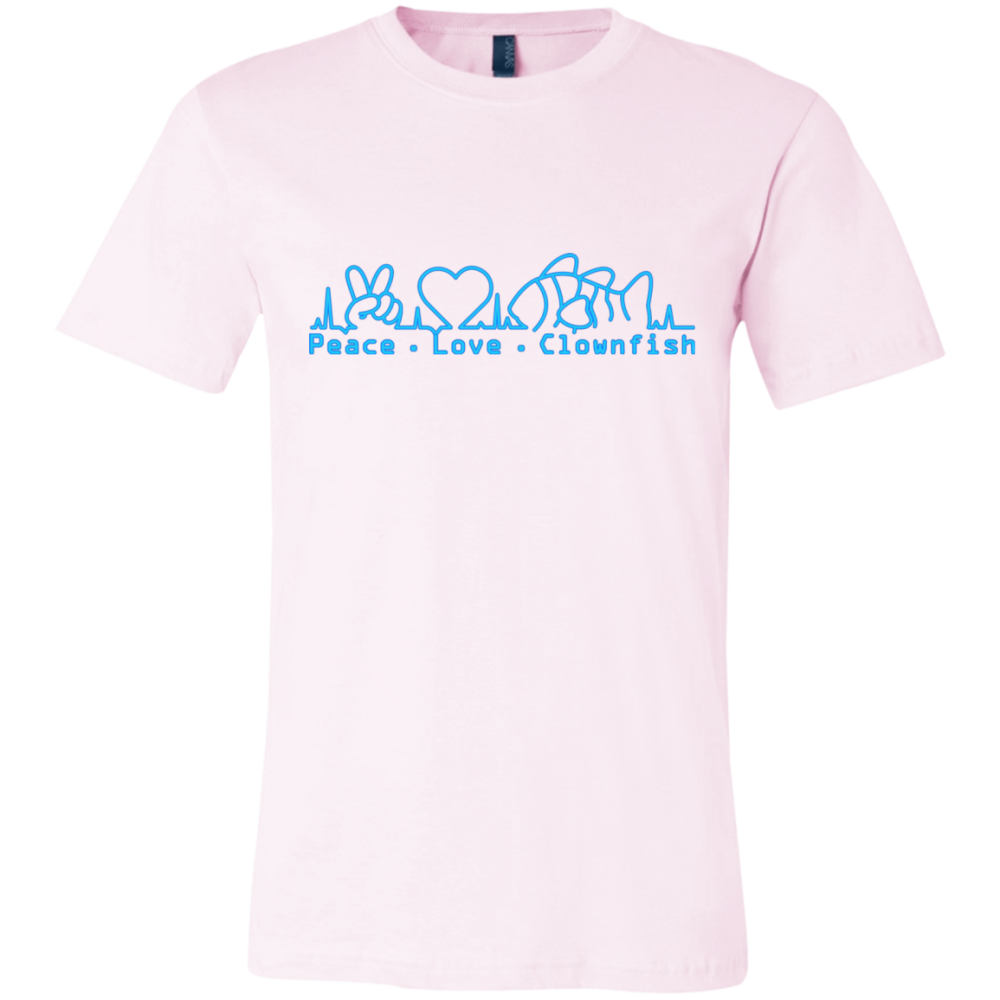 Peace, Love, Clownfish T-Shirt - color: Soft Pink
