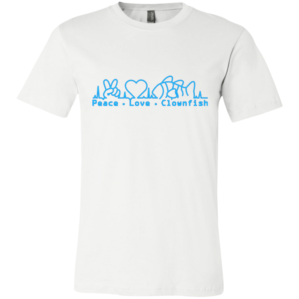 Peace, Love, Clownfish T-Shirt - color: White