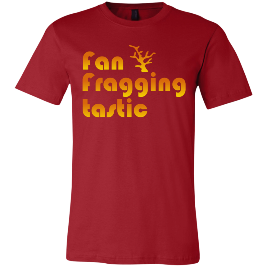 Fan-fragging-tastic T-Shirt - color: Canvas Red
