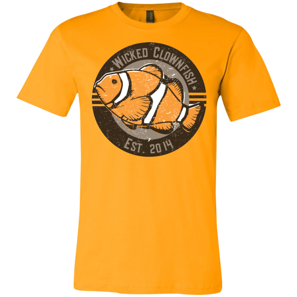 Wicked Clownfish Est. 2014 T-Shirt - color: Gold