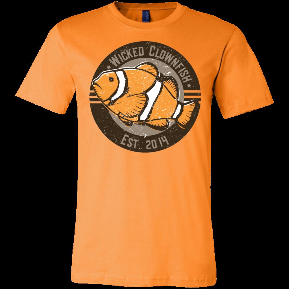 Wicked Clownfish Est. 2014 T-Shirt - color: Orange