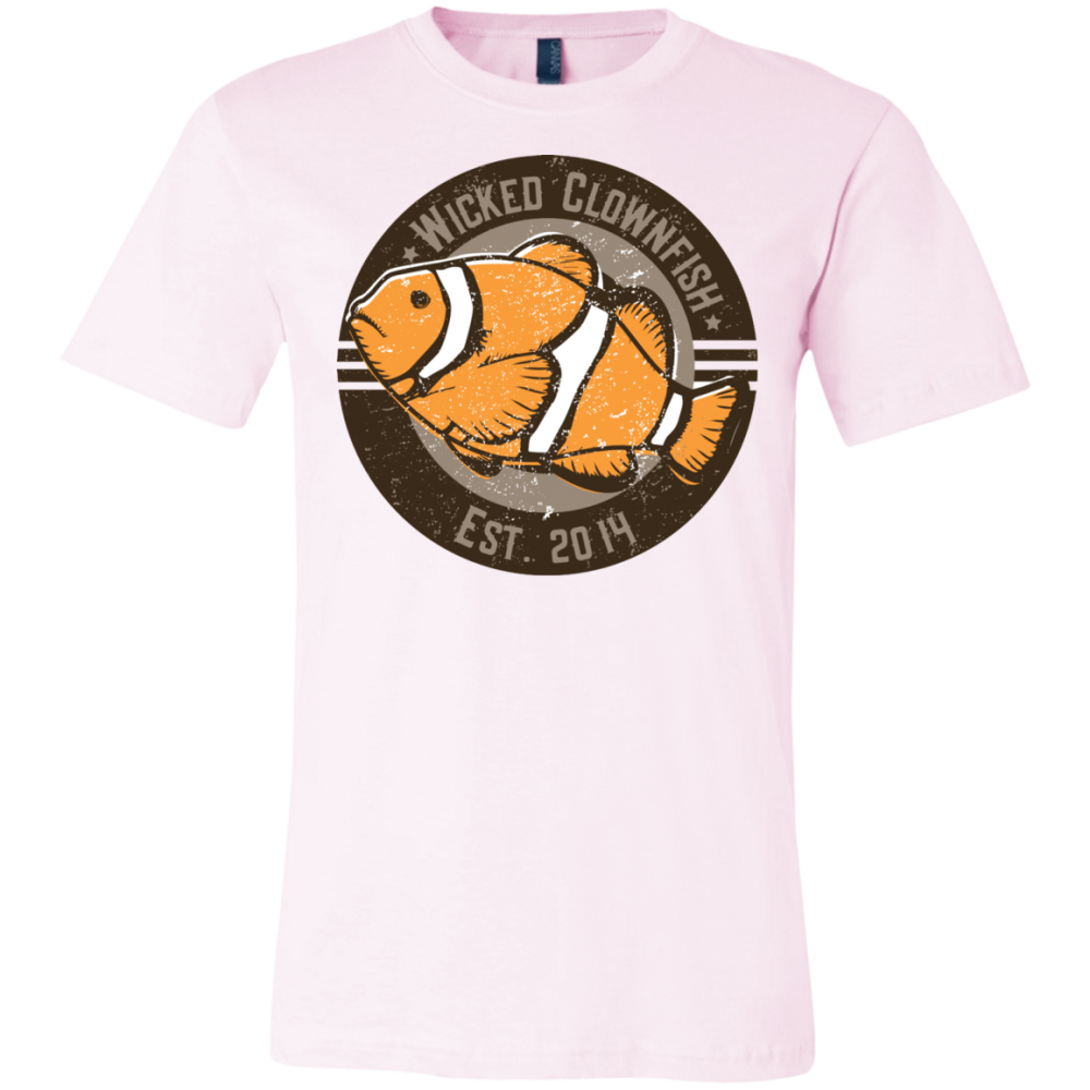 Wicked Clownfish Est. 2014 T-Shirt - color: Soft Pink
