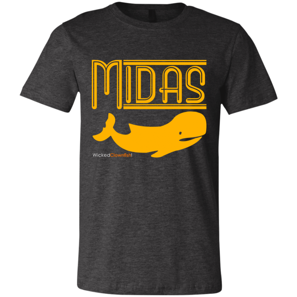 Midas Whale T-Shirt - color: Dark Grey Heather
