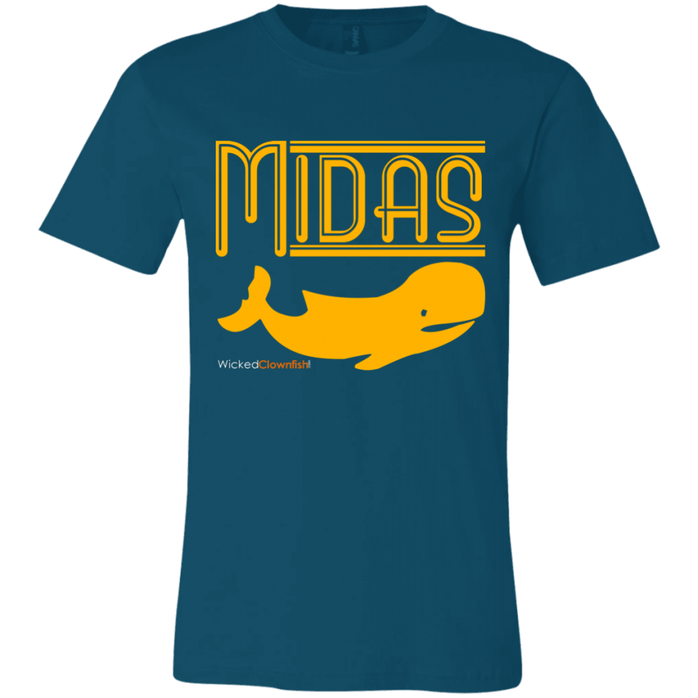 Midas Whale T-Shirt - color: Deep Teal