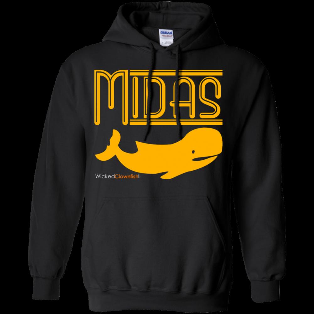 Midas Whale Hoodie - color: Black