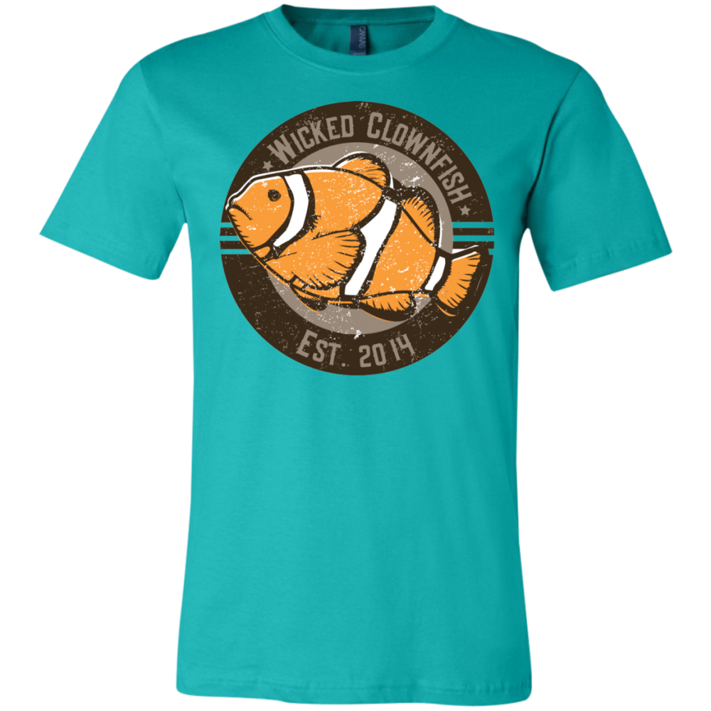 Wicked Clownfish Est. 2014 T-Shirt - color: Teal
