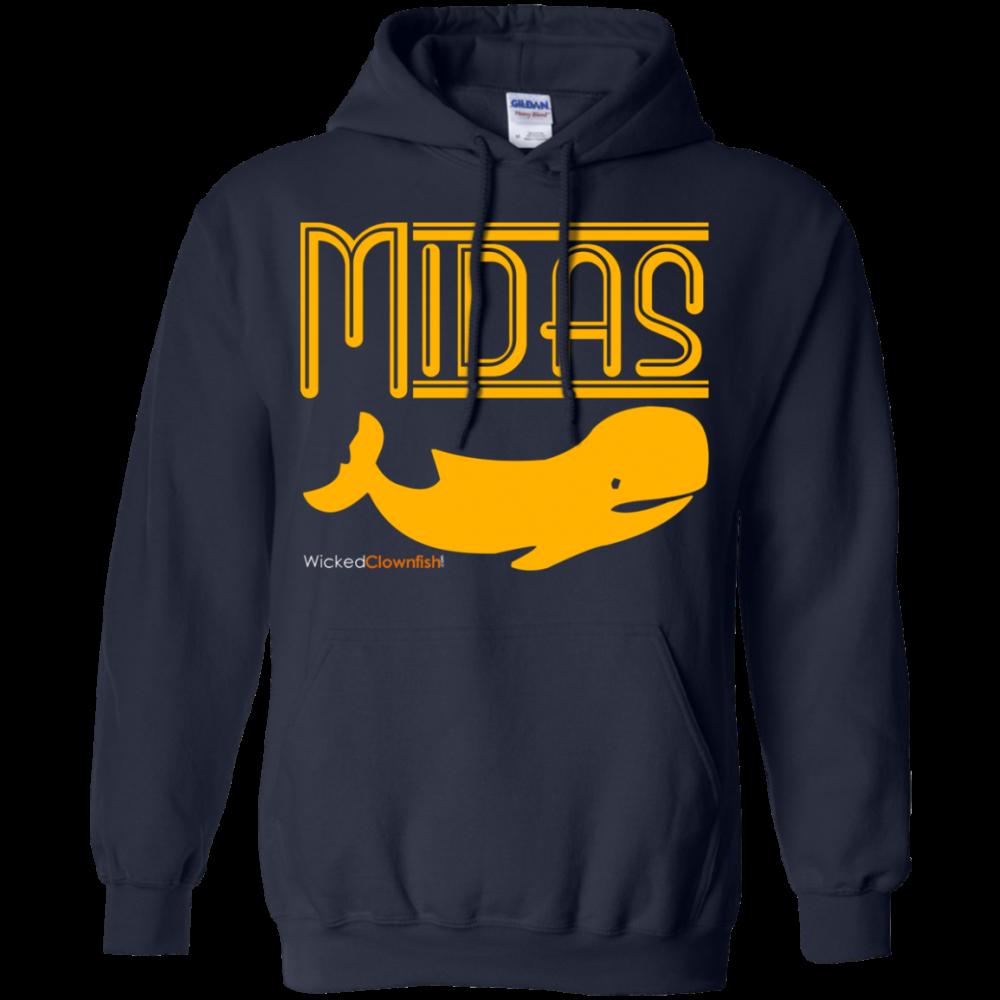 Midas Whale Hoodie - color: Navy