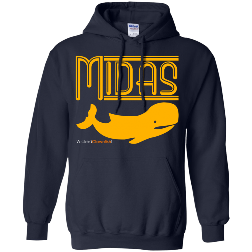 Midas Whale Hoodie - color: Navy