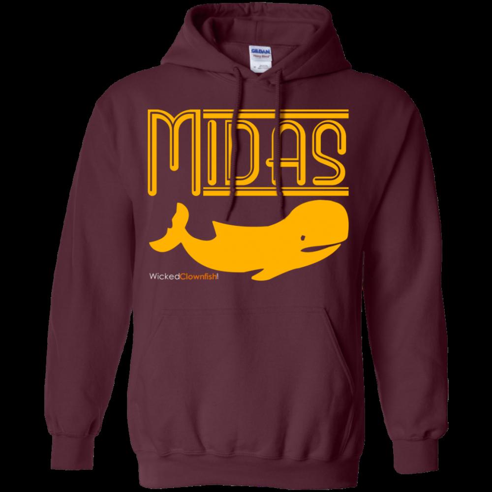 Midas Whale Hoodie - color: Maroon