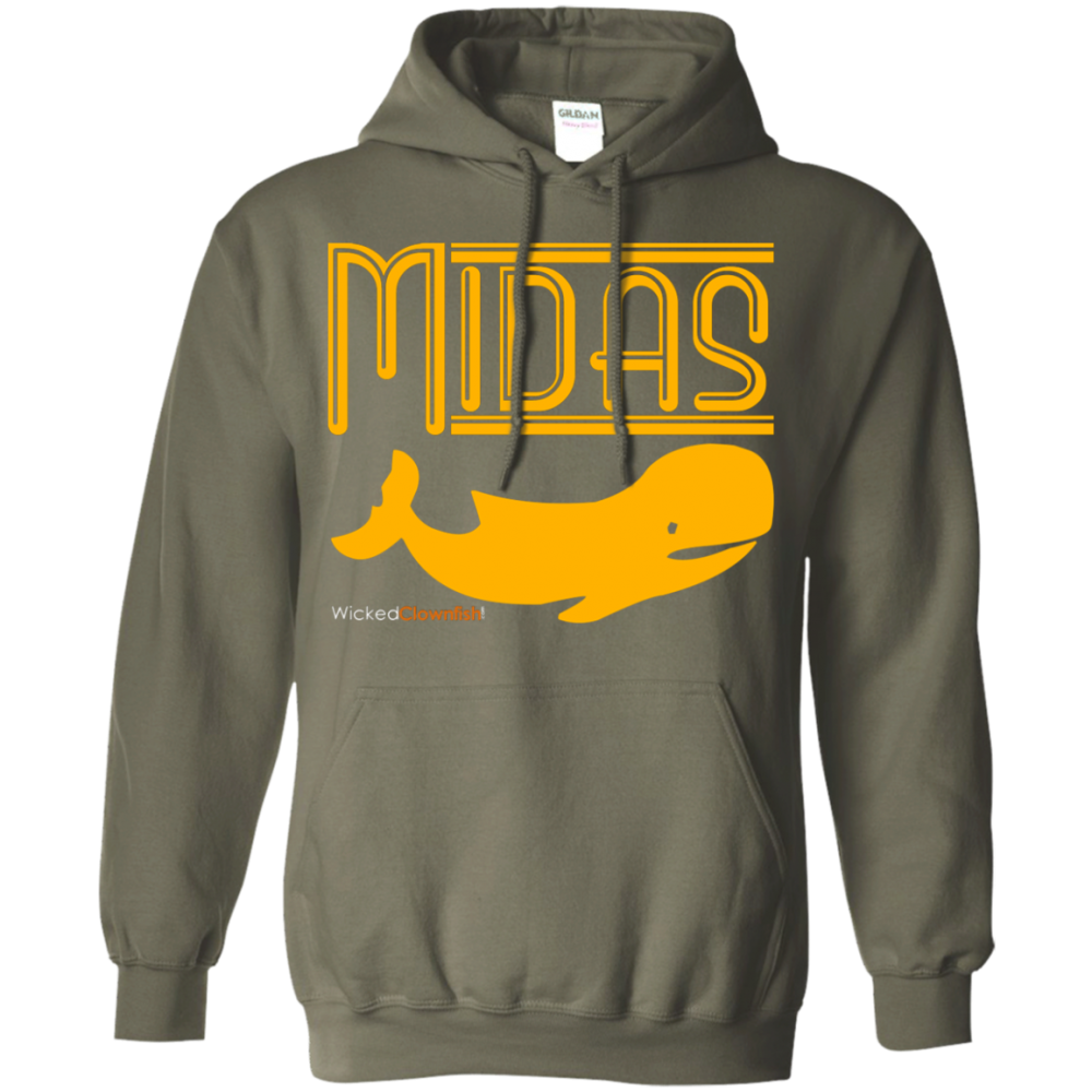 Midas Whale Hoodie - color: Military Green