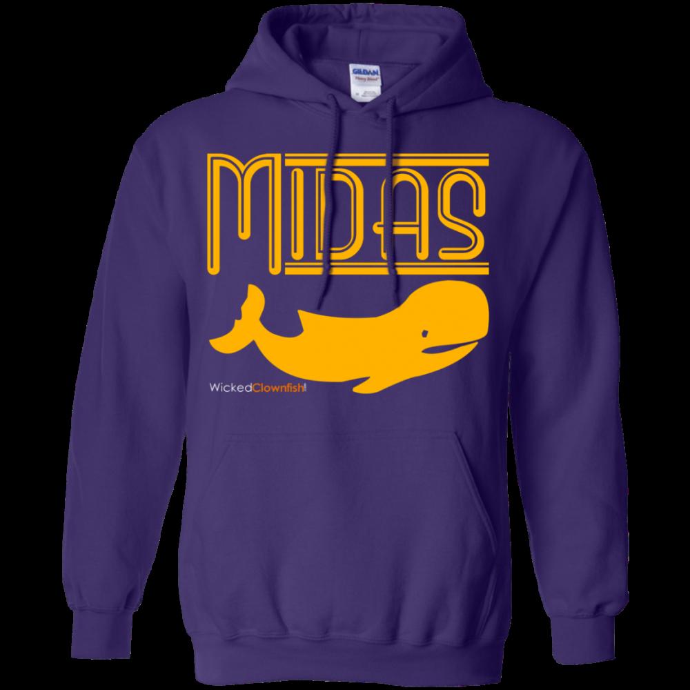 Midas Whale Hoodie - color: Purple