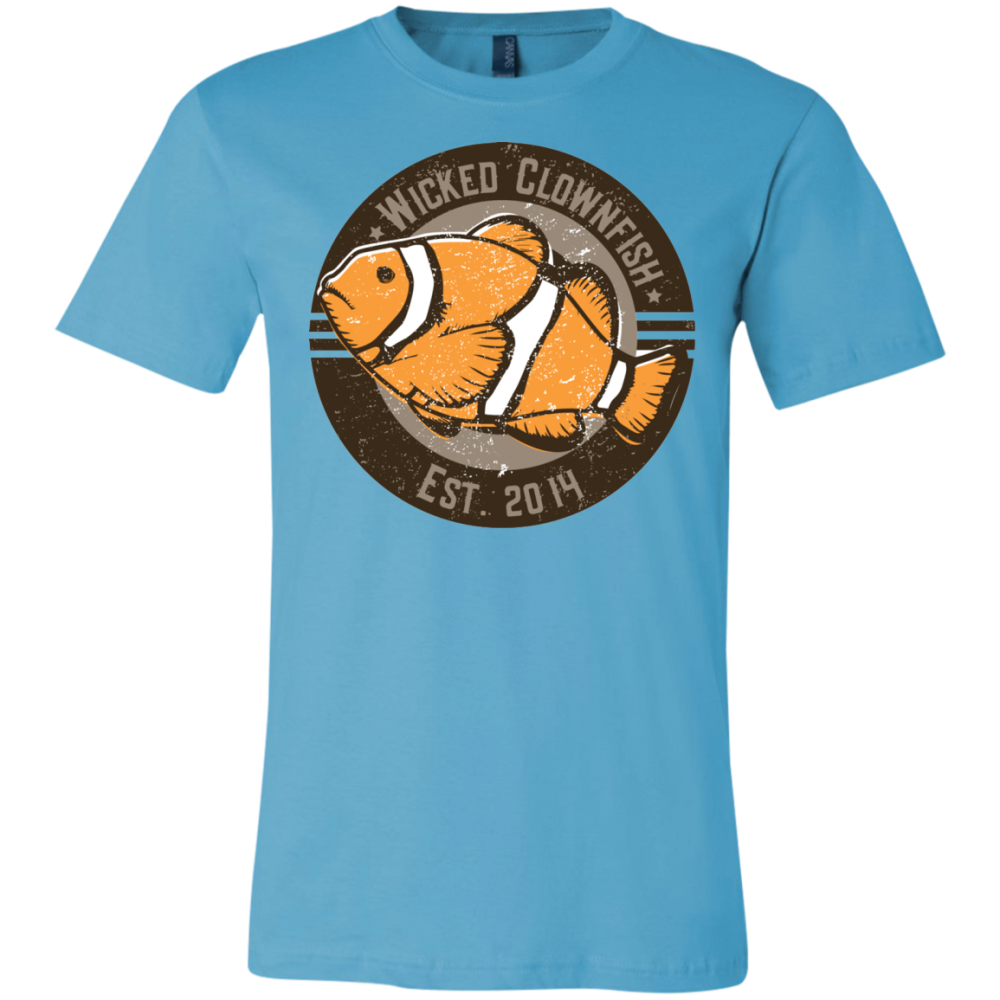 Wicked Clownfish Est. 2014 T-Shirt - color: Turquoise